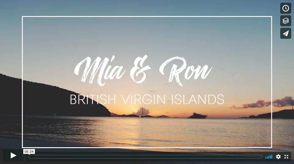 British Virgin Islands wedding film