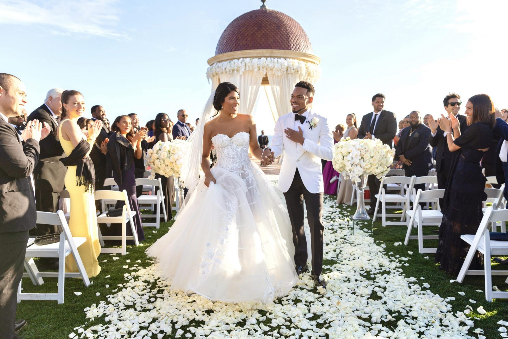 pelican hill wedding ceremony, pelican hill weddings, pelican hill wedding videographers, orange county wedding venues, orange county wedding videographers, wedding processional, c&k, pelican hill rotunda, southern california wedding videographers,
